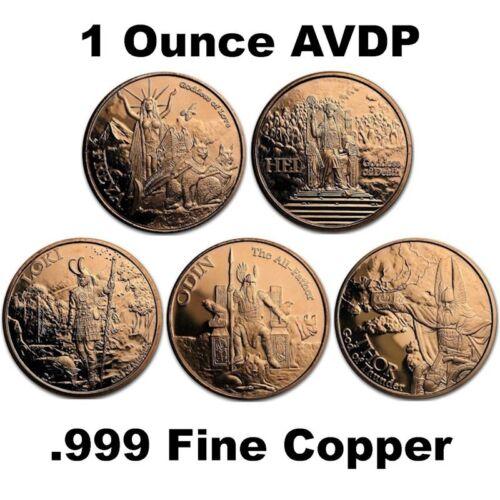 Norse God Series 1 oz .999 Pure Copper BU Round(s)