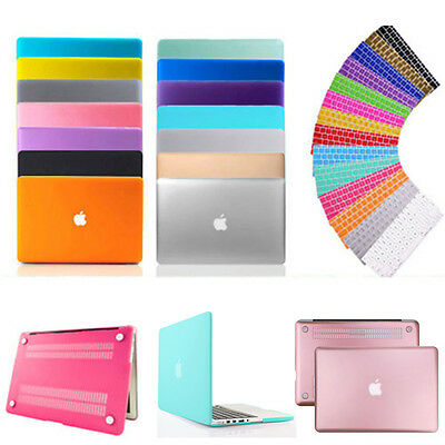 """Rubberized Hard Case Shell+Keyboard Cover for Macbook Pro 13/15"""" Air 11/13"""" Inch"""