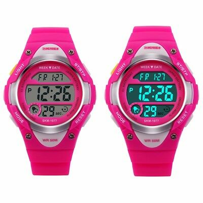 Kids Watches Waterproof Sport Electronic Digital Wrist Watch For Children Girls