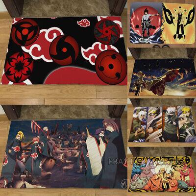 NARUTO Anime Carpet Floor Mat Home Area Rugs Non-slip Mugen Tsukuyomi  Rectangle