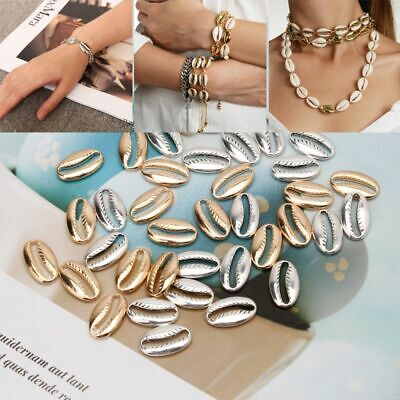 20Pcs Metal Shell Beads Cowrie Shell Beach Spiral Seashell Charms Jewelry Making](Shell Beads)
