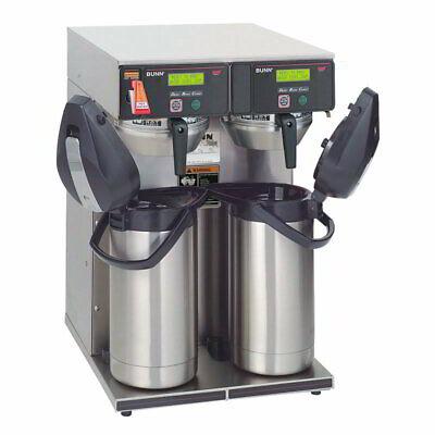 Bunn Aps 15 Gal Axiom Twin Airpot Coffee Brewer Faucetlcd Display 120 240v1ph