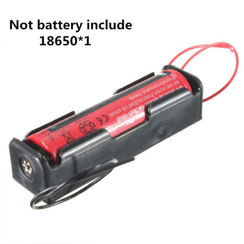 5X 18650 Battery Li-ion 3.7V Clip battery Box Case Black With Wire holder Easy