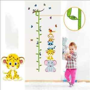 Animaux hauteur tableau sticker mural b b enfants for Tableau chambre bebe animaux