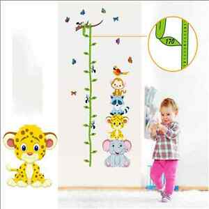animaux hauteur tableau sticker mural b b enfants. Black Bedroom Furniture Sets. Home Design Ideas