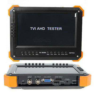 "US X41TA 7""HD-AHD+TVI+HDMI+VGA+CVBS 5in1 Input CCTV Camera Video Tester"