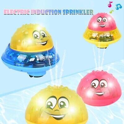 Children Electric Induction Sprinkler Water Spray Toy Light Baby Bath Toys New