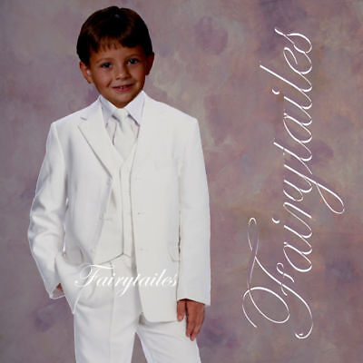 First communion Boy formal Wedding suit white Size 10 - First Communion Suit Boy