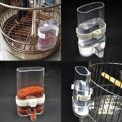 Pet Bird Cage Auto Water Bottle Parrot Cockatiel Food Hanging Dispenser Feeder