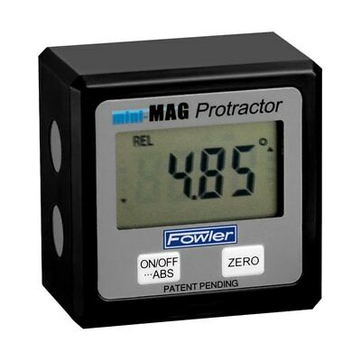 Fowler Mini-mag Angle Gauge Digital Protractor Magnetic Electronic Level