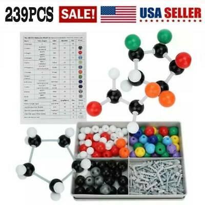 Organic Chemistry Model Kit (239 Pieces) - Molecular Model Atoms Bonds Guide US