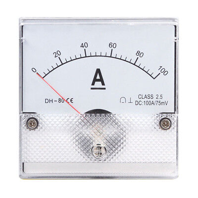 1pc Square Analog Panel Amp Current Meter Dc 0-100a Ammeter Gauge Dh-80 8080