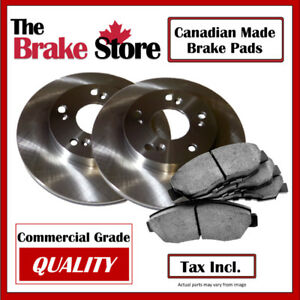 Dodge Caravan 2013 Single Piston Front Brakes and Rotors