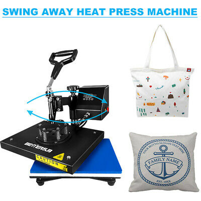 Digital Heat Press Machine Swing Away 9x12 Transfer Printing T-shirts Mats Us