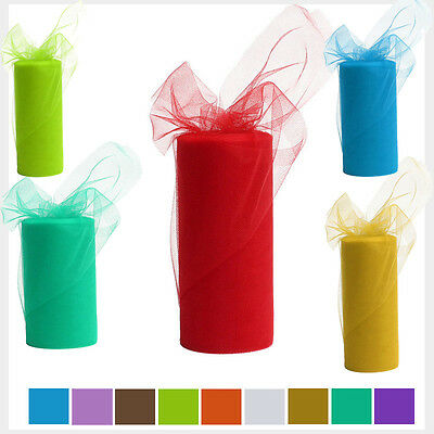 Colorful 6in 25 Yard Of Tulle Tutu Roll Tissue Rolls DIY Dress Party Decoration