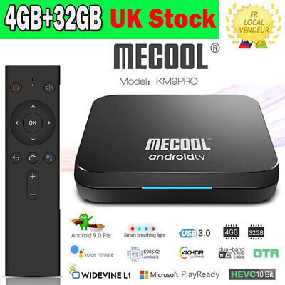 MECOOL KM9 Pro Smart Android 9.0 TV Box Media Player S905X2 4GB+32GB Dual Wifi