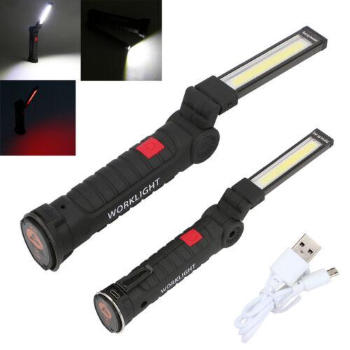 COB LED Licht Clip Magnet USB wiederaufladbare Arbeitslampe Taschenlampe Lampe