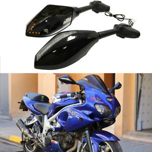 MOTORCYCLE LED TURN SIGNAL LIGHTS REARVIEW SIDE MIRRORS FOR Suzuki SV1000S 650S