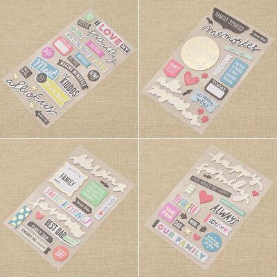 - Memories 3D Die Cut Self-adhesive Stickers for Scrapbooking DIY Card Making