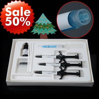 New Dental Orthodontic Bonding System Metal Bracket Light Cure Adhesive Set Kit
