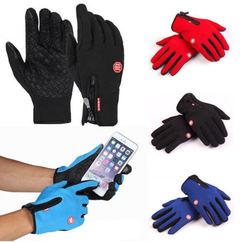 Herren Damen Thermo Touchscreen Handschuhe Winter Warm Sport Gloves Winddicht