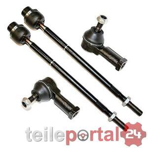 2x Axialgelenk, Spurstange + Endstück Opel Corsa C Combo Vorne