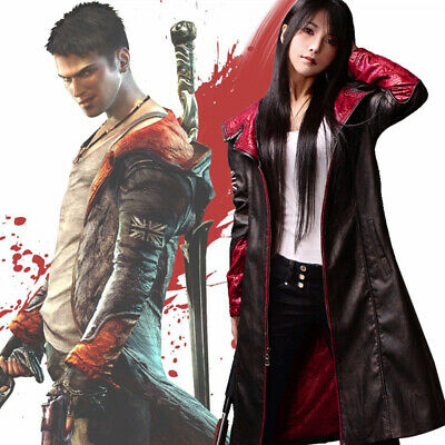 Game Devil May Cry Dante DMC5 Cosplay Kostüm Windjacke Jacke Mäntel Outfit (Dmc 5 Kostüm)