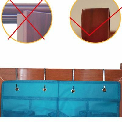 2 Pcs Stainless Steel Over Door Hook Kitchen Cabinet Hangers Holder Organizer