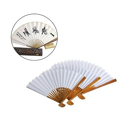 Summer Bamboo - Summer Chinese Bamboo Fan Folding Hand Held Paper Fans Calligraphy Art Gift