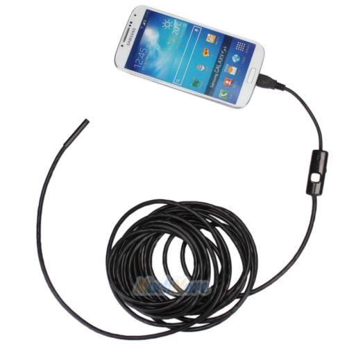 Купить Unbranded/Generic - 5M Android Endoscope 5.5mm 6 LED USB Waterproof Borescope Inspection Camera NEW