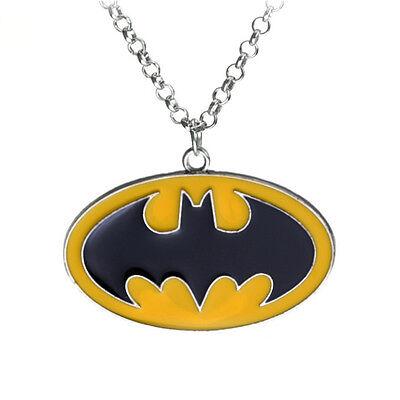 Batman Jewelry Necklace superhero logo symbol emblem the dark night super hero