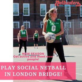 NEW SEASON - Play Social Netball in London Bridge!