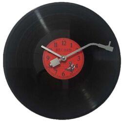 European Retro Nostalgic Ultra-Quiet Clock Vinyl Record Personality Wall ClM4Z1