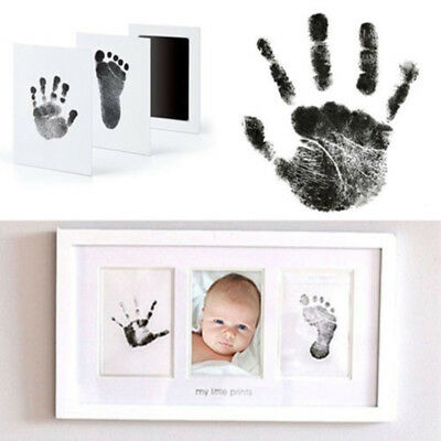 Baby Newborn Handprint Footprint Imprint Clean Touch Ink Pad Photo Frame Kit Hot (Baby Footprint)