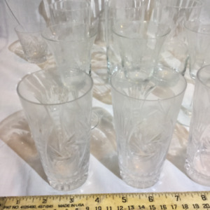 26 piece vintage Cornflower/pressed glass set