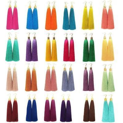 Bohemian Earrings Women Fashion Vintage Long Tassel Fringe Boho Dangle Earrings