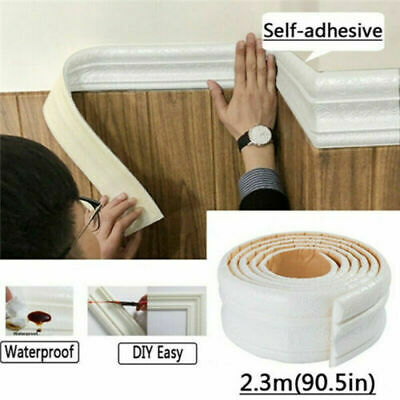 Home Decoration - 7.5FT Waterproof 3D Wall Border Wall Paper Decor Sticker Self-adhesive Kitchen