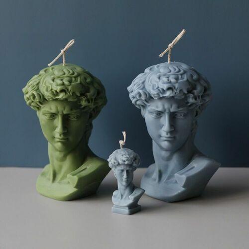 David Portrait Candle Mold Silicone 3d David Face Sculpture Candle Making Mould
