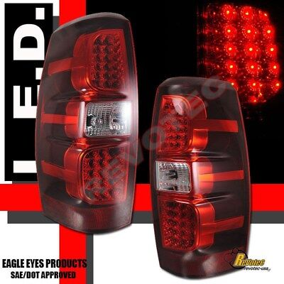 2007-2013 Chevy Avalanche LS LT LTZ Pickup Red LED Tail Lights RH & LH