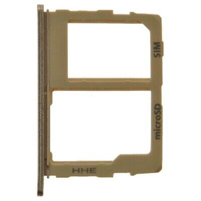 SIM Micro SD Card Tray Set for Samsung Galaxy J7 J737/2018 Gold
