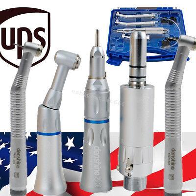 Dental Low Speed Handpiece Kit Push Button 2 Hole 2pcs High Speed Handpiece