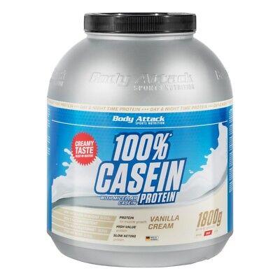 Body Attack Casein Protein 1800g Night Time Protein ideal in Diäten