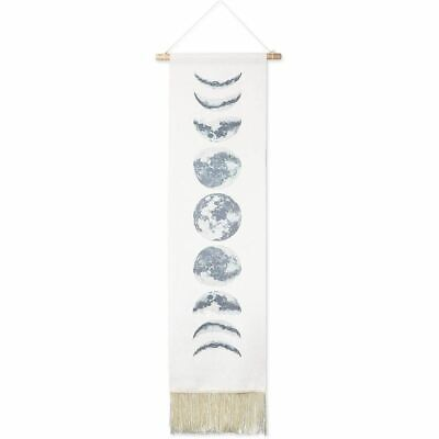 Boho Wall Art Hanging, Moon Phase Home Decor (12.3 x 49 Inches)