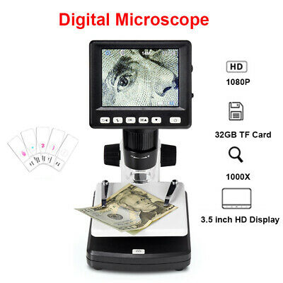 1000x Hdmi Digital Electronic 14mp 3.5 Lcd Video Microscope Magnifier For Mac