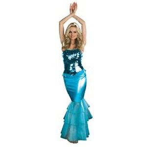 NEW Womens Sea Diva Blue Halloween Party Mermaid Costume S