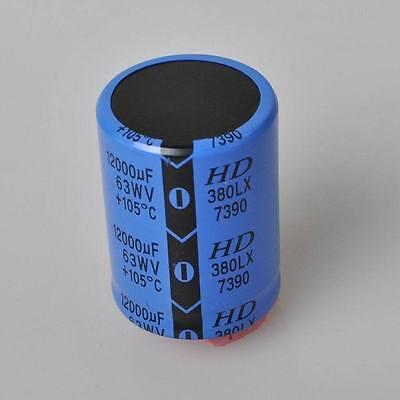 2pcslot 12000uf 12000mfd 63v Electrolytic Capacitor Usa Free Shipping