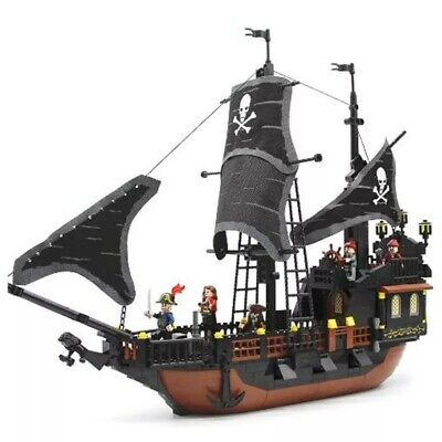 652pcs Caribbean Black Pearl Pirate Ship Legoed Building Blocks Toys Model Set Caribbean Black Pearl Ship