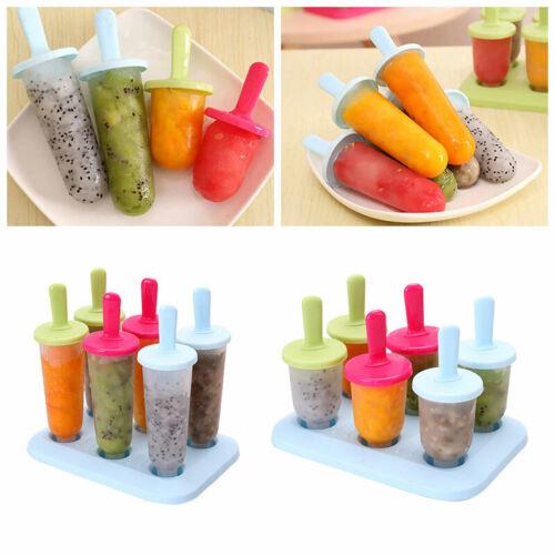 Eisformen 6 Eisformen Popsicle Formen Kit für Kinder DIY EIS am Stiel Bereiter