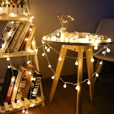 Outdoor Globe String Lights (Globe String Lights 40 LED Decorative String Light Outdoor Battery Powered)
