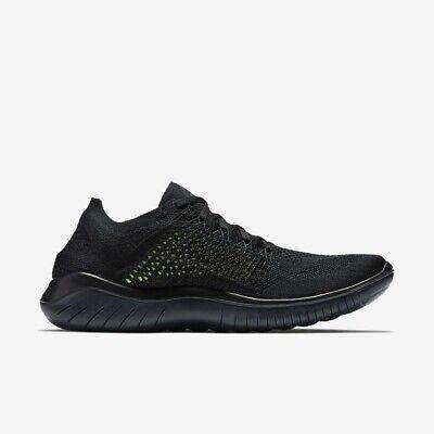 Nike Free RN Flyknit 2018 UK 7 EUR 41 Black Anthracite 942838 002